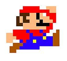 Super Mario - Pixel - Retro Games Photographic Print