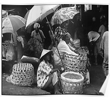 Women preparing for Market Denpasar Poster