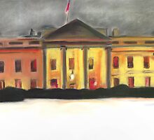Whitehouse DC Winter by Jeffrey Roos