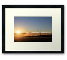 Early Morning Irrigation... Framed Print
