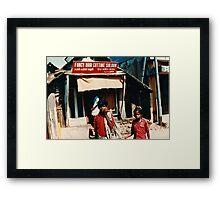 Fancy Hair Saloon South India Framed Print