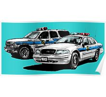 American Police Cars Poster