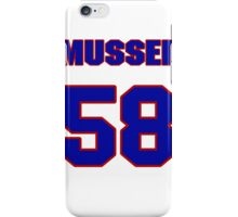 National baseball player Neal Musser jersey 58 iPhone Case/Skin