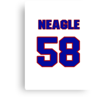 National baseball player Denny Neagle jersey 58 Canvas Print