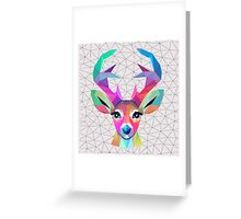 low poly art Greeting Card