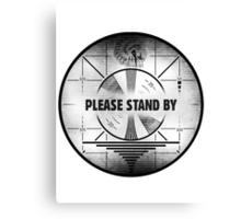 Fallout Standby Screen Canvas Print