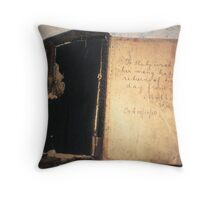 My Mother's Bible a B'day gift 10/10/1910 Throw Pillow