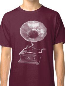 gramophone t-shirt on dark Classic T-Shirt