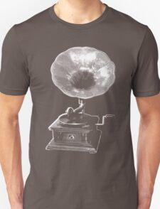 gramophone t-shirt on dark Unisex T-Shirt