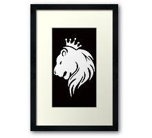 King White Framed Print