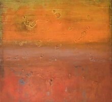 """XL Orange and dark red painting Modern Art nature canvas art 'New Life Ahead """"by Veronica Vilsan 31,5x31,5"""" by Veronica  Vilsan"""