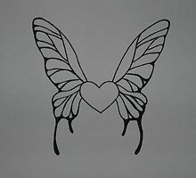 Winged Heart by faith-in-ink
