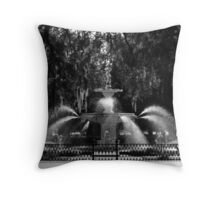 Savannah Fountain #2, Georgia Throw Pillow