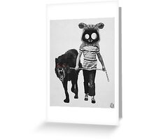 out for a walk (black and white) Greeting Card