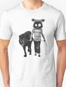 out for a walk (black and white) Unisex T-Shirt