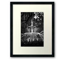 Savannah Fountain #1, Georgia Framed Print