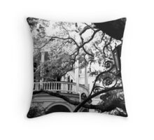 Meeting Street Porch, Charleston, SC Throw Pillow