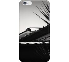 Japanese roof with snow, on the old Saya Kaido, Nagoya Japan iPhone Case/Skin