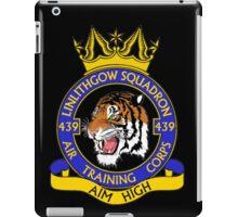 439 (Linlithgow) Squadron (Black) iPad Case/Skin