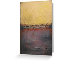 large yellow plum Abstract painting landscape art painting Modern seascape nature canvas art Love of nature2 by Veronica Vilsan  Greeting Card