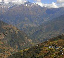 The village of Nunthala, Kumbhu region, Nepal by Richard  Stanley
