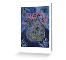 July. Night. Poppies. Greeting Card