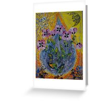 July. Poppies. Greeting Card