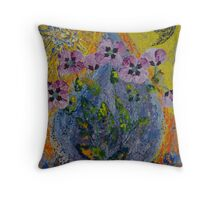 July. Poppies. Throw Pillow