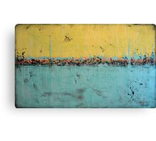 "60"" Extra large abstract art - yellow and blue neutral - huge nature painting - Nature in your home - 59x35,5"" Canvas Print"