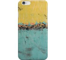 "60"" Extra large abstract art - yellow and blue neutral - huge nature painting - Nature in your home - 59x35,5"" iPhone Case/Skin"