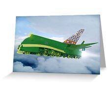 Pakistani Interplanetary Sky Trains Greeting Card