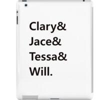 Clary & Jace & Tessa & Will iPad Case/Skin
