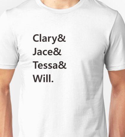 Clary & Jace & Tessa & Will Unisex T-Shirt