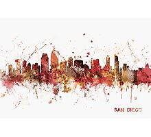 San Diego California Skyline Photographic Print