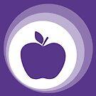 purple apple by Micheline Kanzy