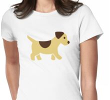 Puppy dog Womens Fitted T-Shirt