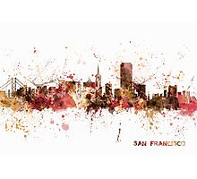 San Francisco California City Skyline Photographic Print