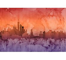 Buffalo New York Skyline Photographic Print