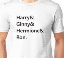 Harry & Ginny & Hermione & Ron Unisex T-Shirt