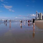 Surfers Paradise Beach by MardiGCalero