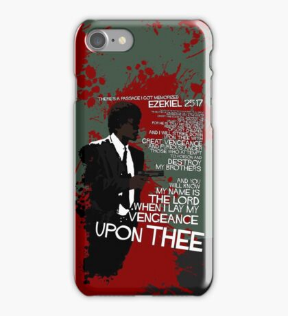 Movie Quote with-a-gun 4 PULP FICTION iPhone Case/Skin