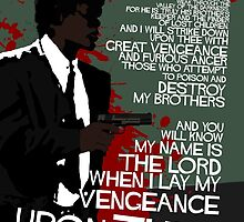 Movie Quote with-a-gun 4 PULP FICTION by edgarascensao