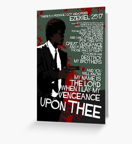 Movie Quote with-a-gun 4 PULP FICTION Greeting Card