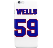National baseball player Jared Wells jersey 59 iPhone Case/Skin