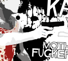 Movie Quote with-a-gun 2 DIE HARD Sticker