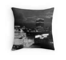 Infra red Manchester Throw Pillow