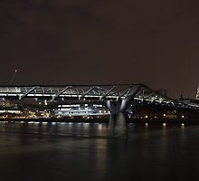 Millennium Bridge and St. Paul's Cathedral by Sergey Galagan
