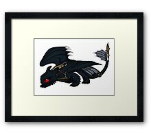 Saddled Night Fury Design Framed Print