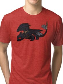 Saddled Night Fury Design Tri-blend T-Shirt