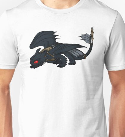 Saddled Night Fury Design Unisex T-Shirt